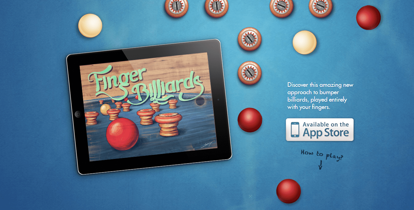 Finger billiards uses parallax scrolling for making their portfolio