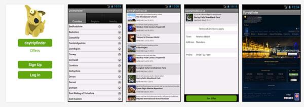 DayTripFinderモバイル アプリケーション