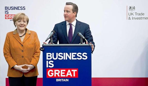 David Cameron, the Prime Minister of UK is giving speech on the technology plans of Britain in CeBIT 2014.