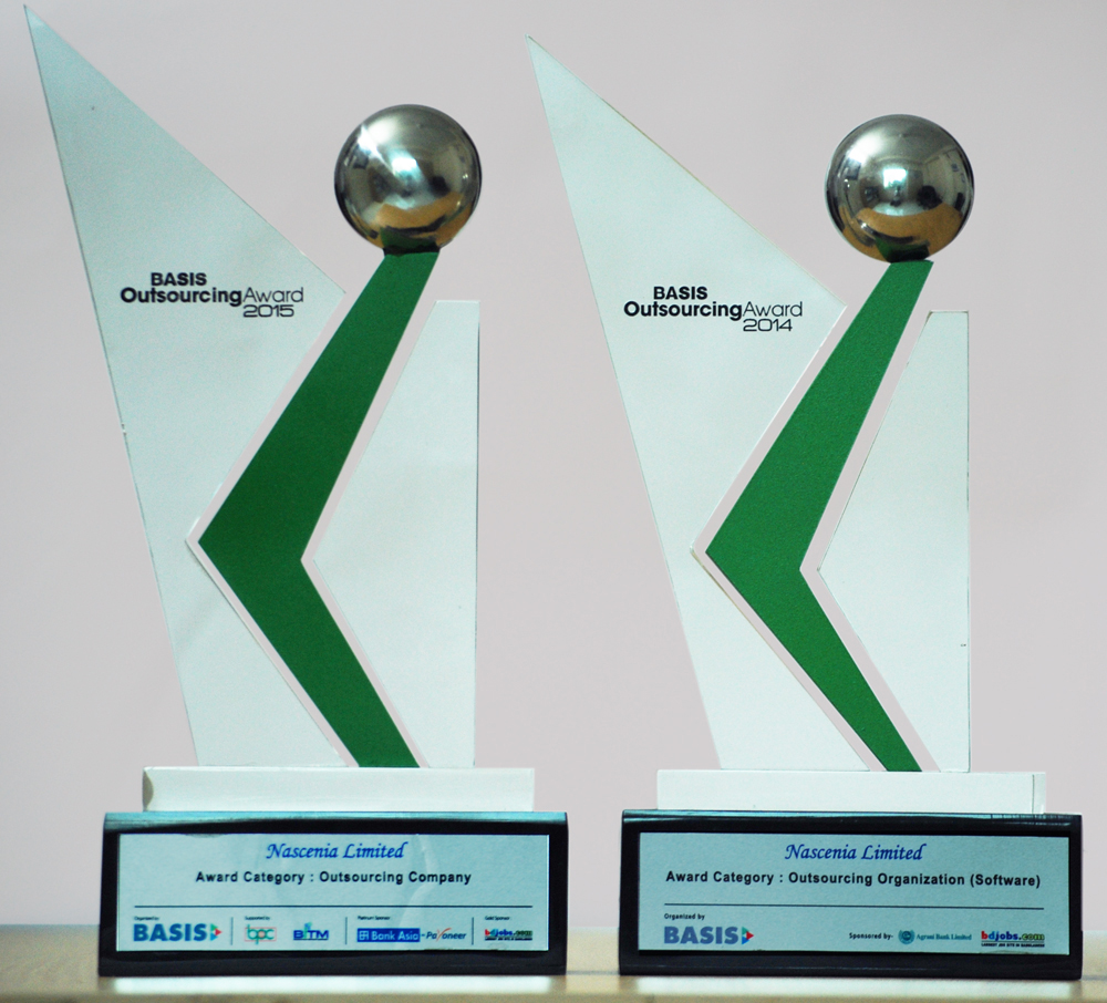 Nascenia achieved BASIS Outsourcing Award 2015 and 2014