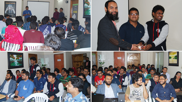 Participants and the winners of the Quiz Session