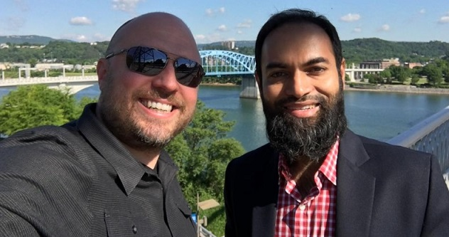 Shaer Hassan, the CEO of Nascenia with Andre Dantzler at Chattanooga, Tennessee