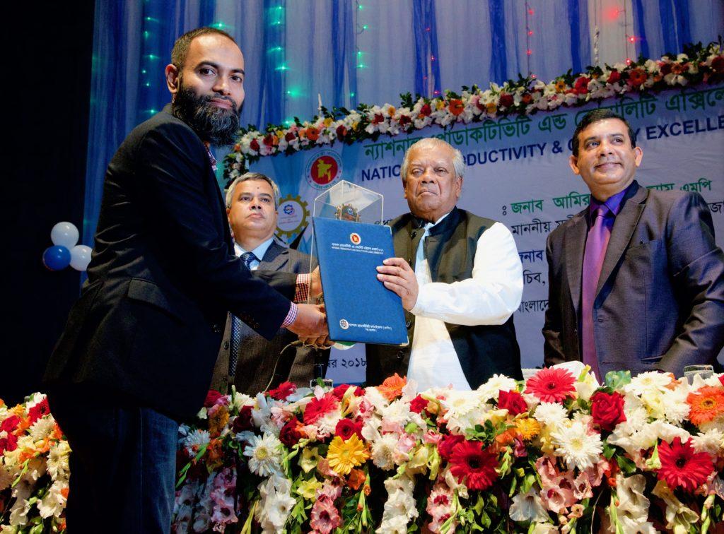 Minister handed NPQE Award 2017 to Shaer Hassan