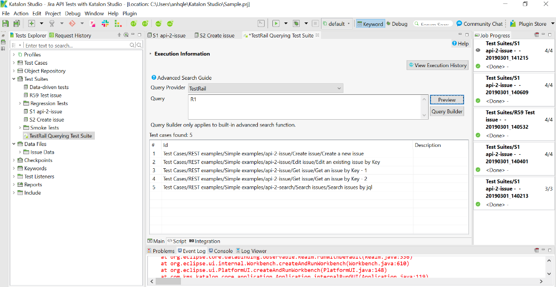 Query TestRail in Dynamic Test Suite Querying