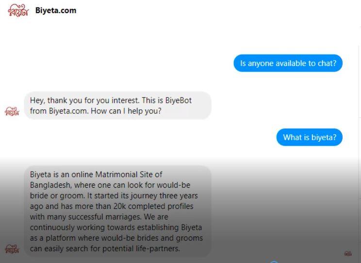 Chatbot Development for Biyeta